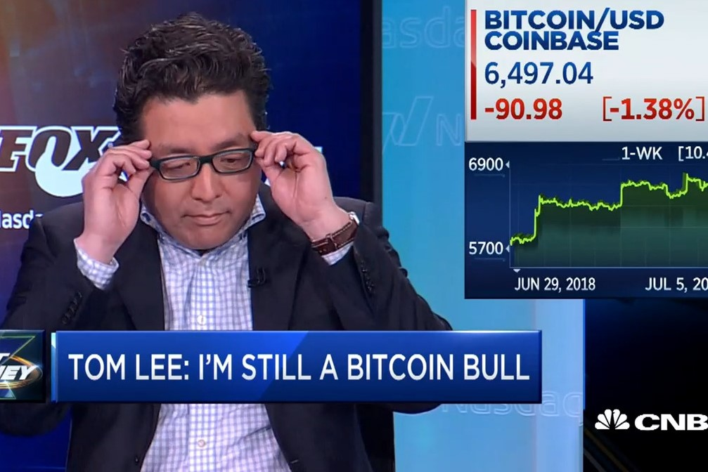 """Tom Lee """"May Have Misspoke a Little Bit"""" in Bitcoin Predictions"""