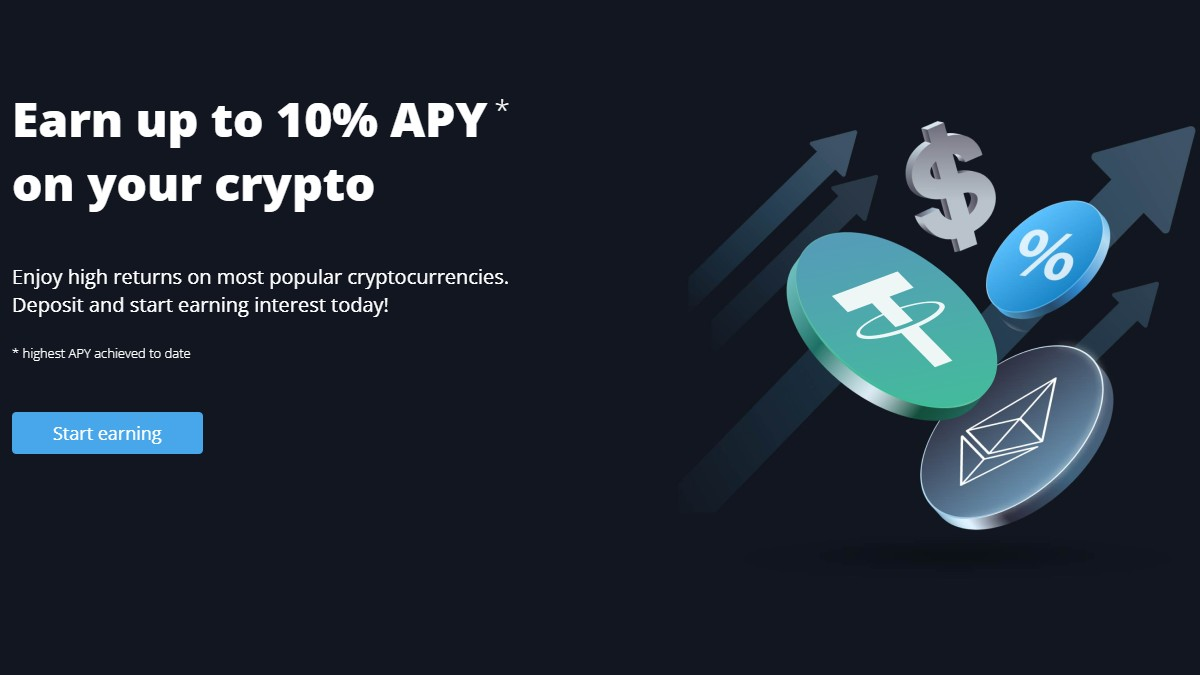 Earn APY on Crypto with Covesting Yield Accounts