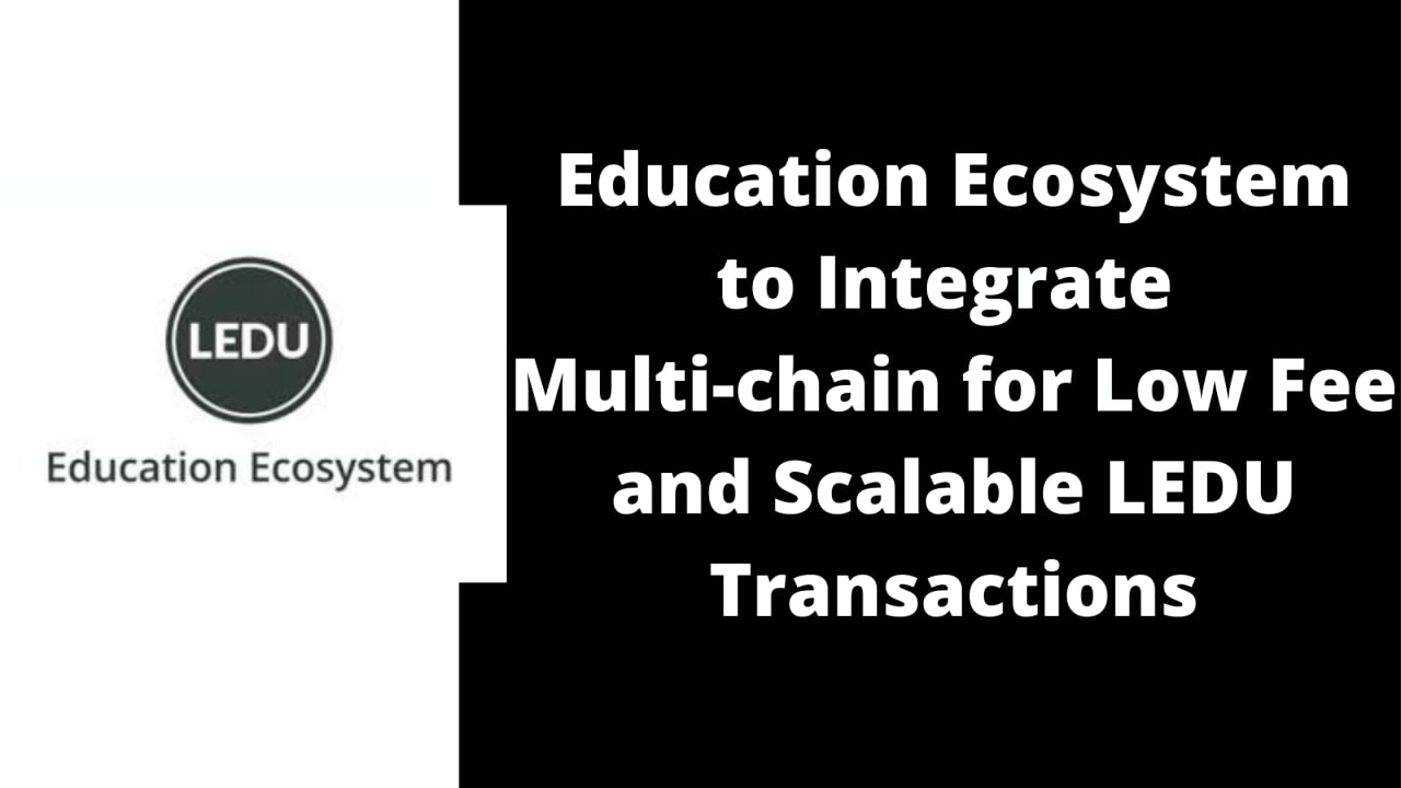 Education Ecosystem to Integrate Multi-chain for Low Fee and Scalable LEDU Transactions
