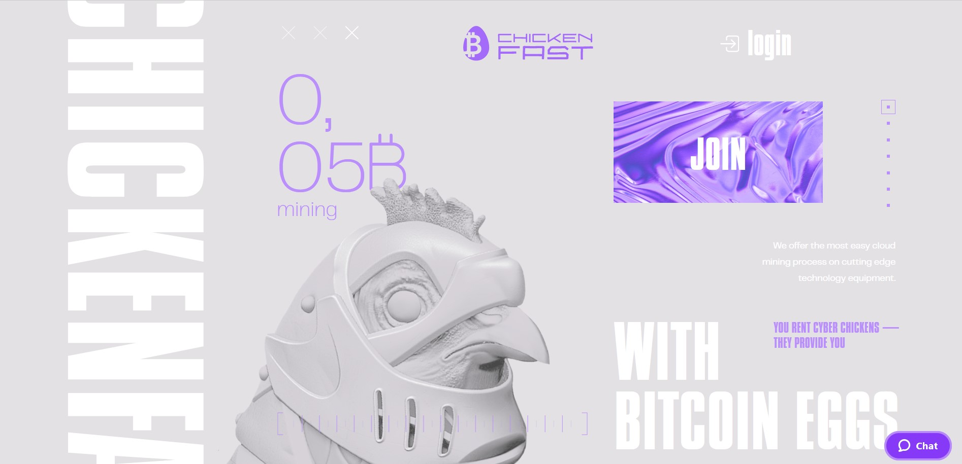 CHICKENFAST.com - New Generation of Cloud Mining Systems