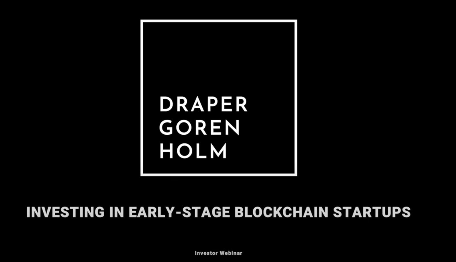 Investing in Early-Stage Blockchain Startups