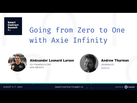 Going from Zero to One With Axie Infinity