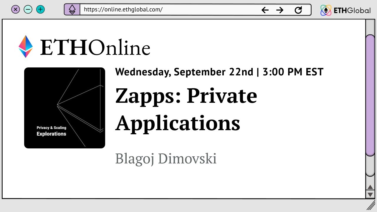 Zapps: Private Applications