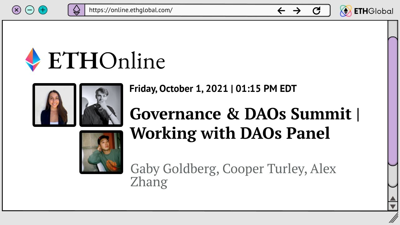 Working for DAOs Panel